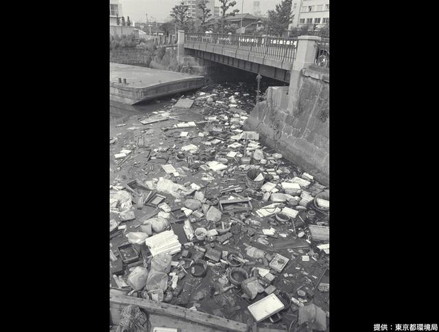 ゴミだらけの河川