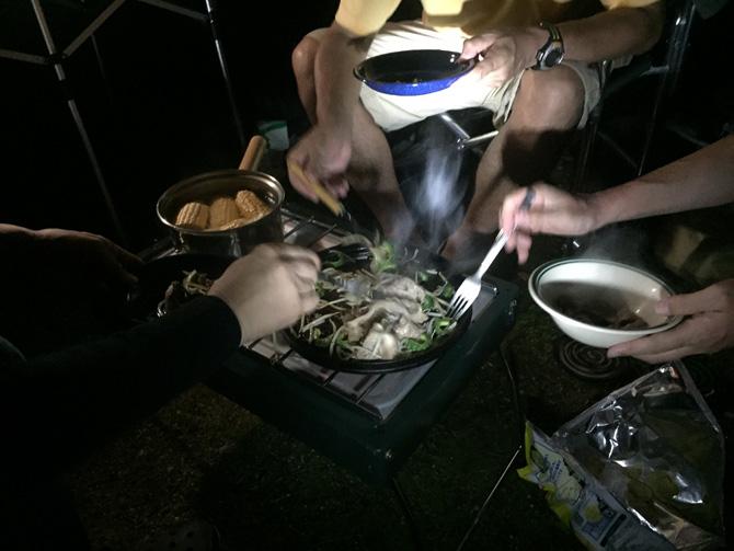 キャンプ飯 ジンギスカン