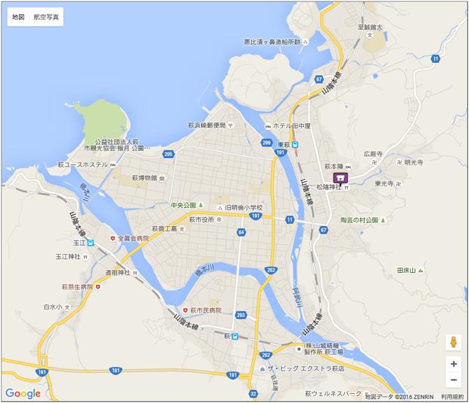 萩市松陰神社位置